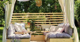 Urlaubsfeeling mit Deiner selbstgebauten Gartenlounge. Hier die Anleitung zum Ba...