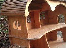 spielhaus puppenhaus holzhaus waldorf holzkunst krippe in in Murg | eBay