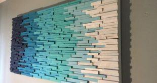wandkunst holzwandkunst moderne wandkunst strandkunstwand #WoodWorking